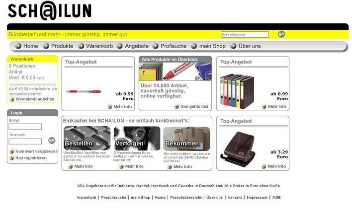 Bürobedarf bestellen Sie bei Schailun. Besuchen Sie uns im Internet, fordern Sie unseren Katalog an oder rufen Sie uns an.