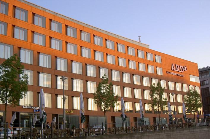 Das ARD-Hauptstadtstudio in der Wilhelmstraße 67A in Berlin