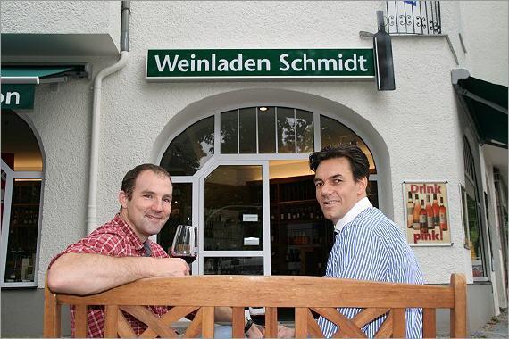 Im Weinladen Westend beraten Sie gerne Andreas Kinzler und Detlef Bittner