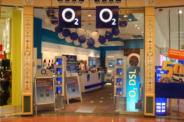O2 im Einkaufszentrum das Schloss