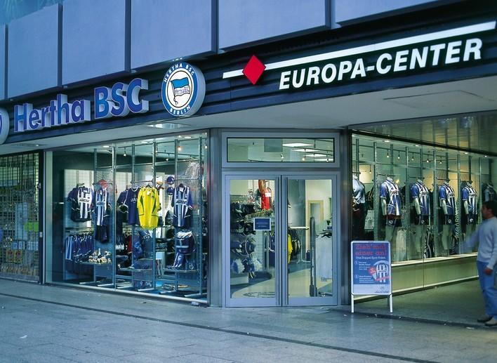Der HERTHA BSC Fanshop im Europa-Center