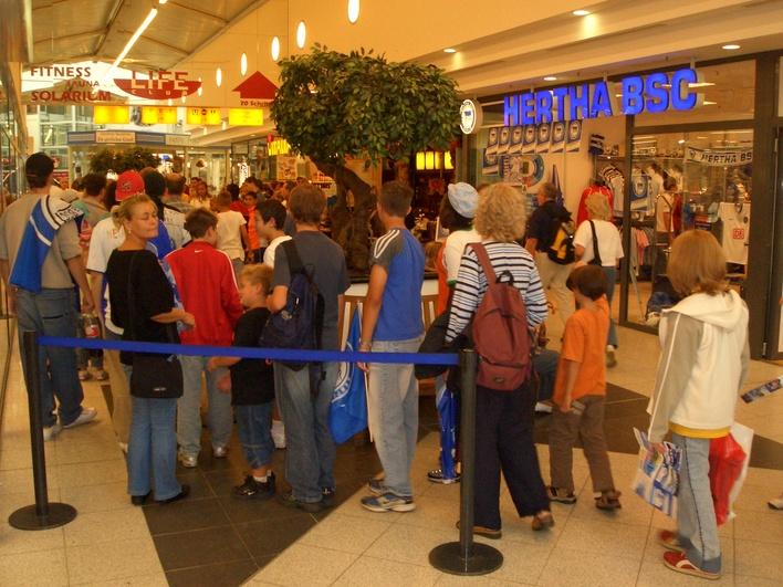 HERTHA BSC Fanshop in den Gropius Passagen