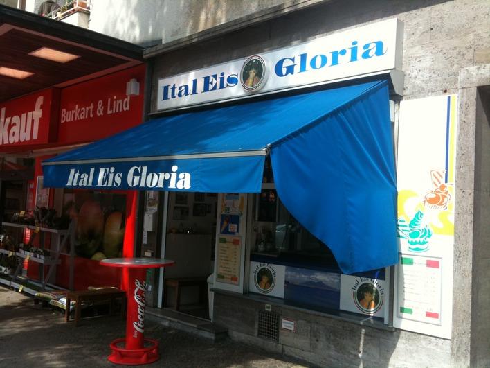Klein, aber fein: Gloria, italienisches Eis am Steubenplatz.