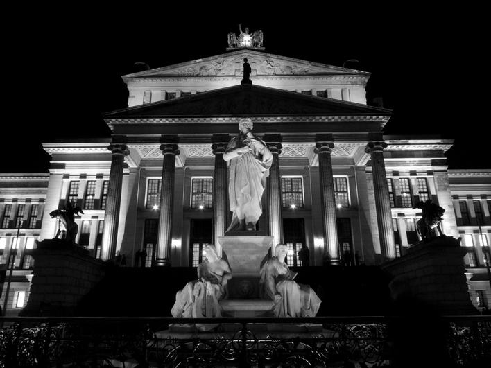 Konzerthaus Berlin, am Gendarmenmarkt beim Festival Of Lights, Oktober 2010