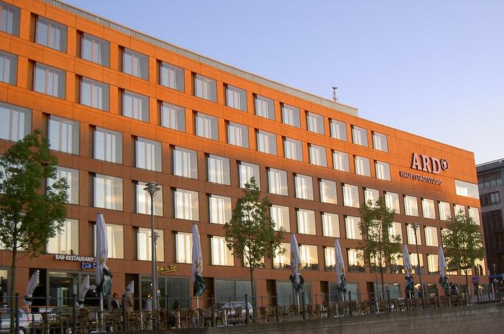 Das ARD Infocenter im ARD Hauptstadtstudio