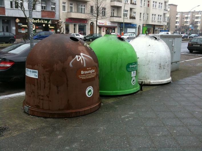 Altglascontainer Müllerstraße