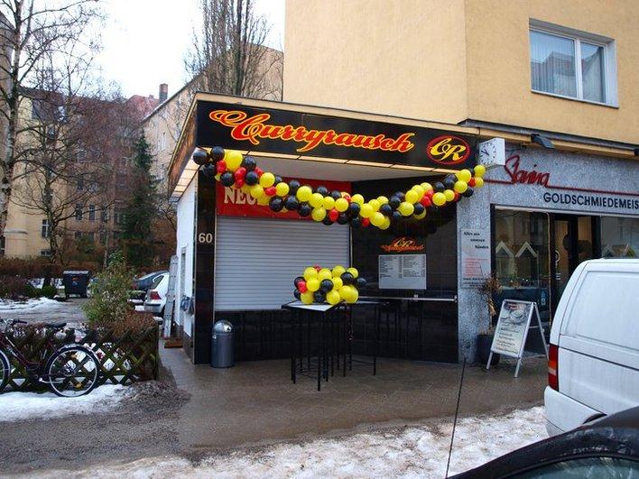 Der Imbiss Curryrausch in der Westfälischen Straße 60 in Halensee