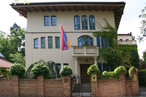 Botschaftsgebäude der Botschaft der Republik Armenien in Berlin-Westend