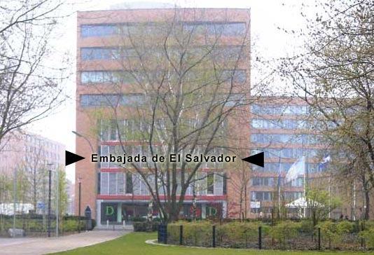 Lageplan der Botschaft der Republik El Salvador in Berlin