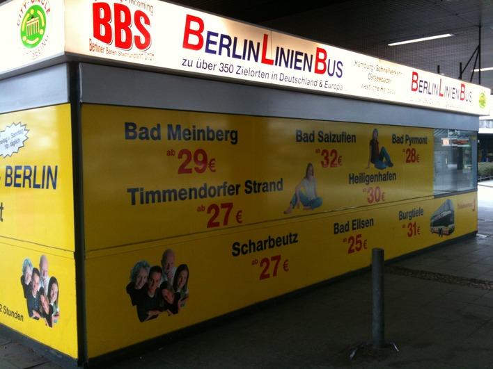 Berlin Linien Bus - Fahrkartenschalter ZOB am Funkturm