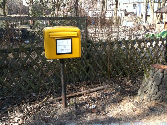 Briefkasten am Schildhorn