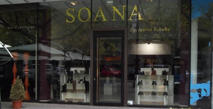 Das Schuhgeschäft Soana am Kurfürstendamm