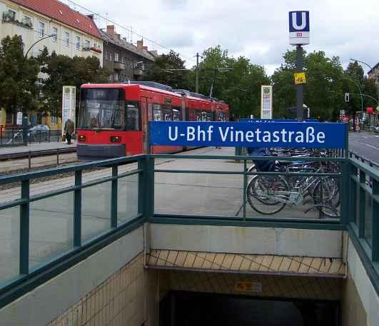 U-Bahnhof Vinetastraße (U2)