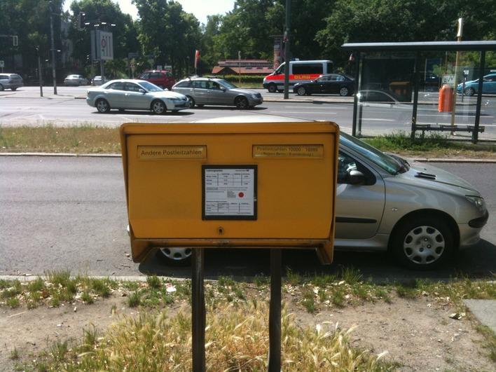Briefkasten am Scholzplatz