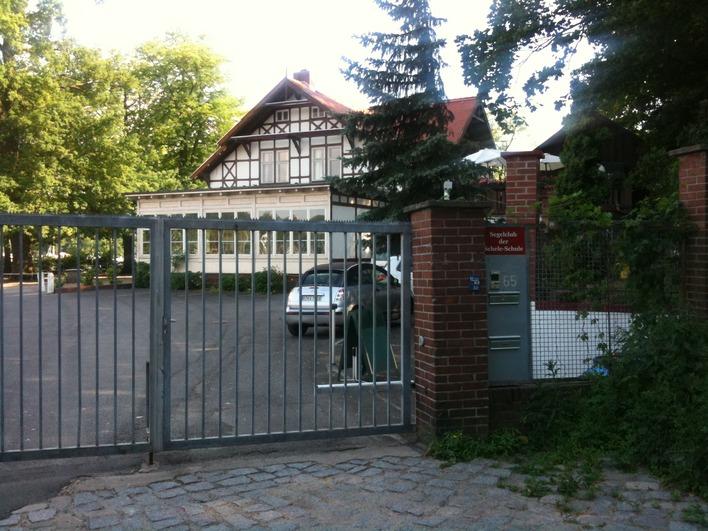 Das Clubhaus des Segelclubs der Schele-Schule