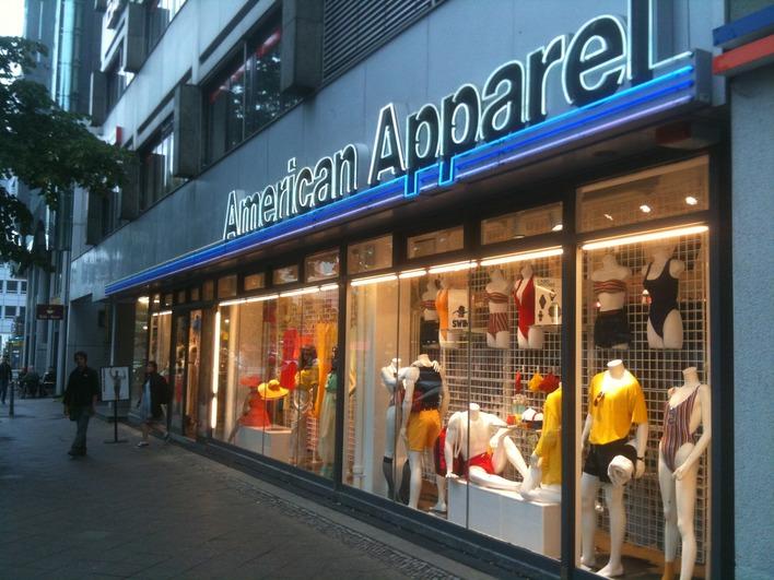 American Apparel in der Bayreuther Straße in Berlin-Schöneberg