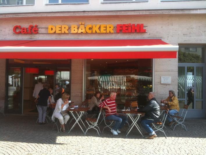 Der Bäcker Feihl auf dem Markt in der Altstadt Spandau