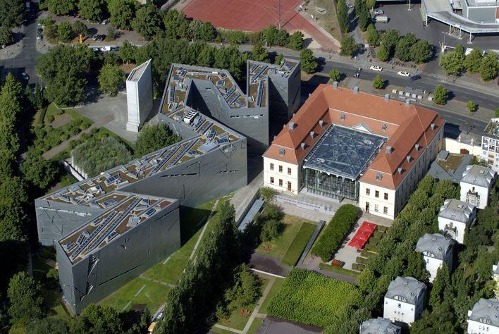 Luftaufnahme Jüdisches Museum Berlin, Altbau und Libeskind-Bau