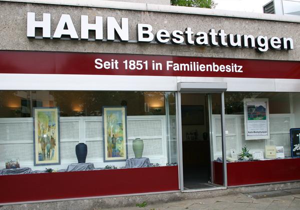 HAHN Bestattungen in der Moltkestraße, Filiale Lichterfelde-West