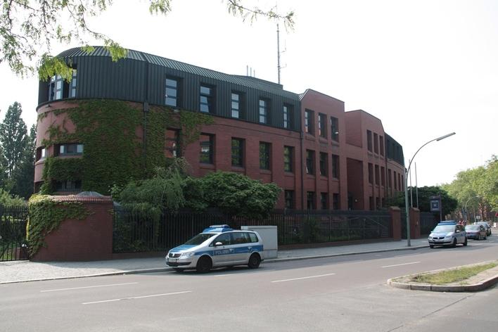 Polizeiabschnitt 23 in der Schmidt-Knobelsdorf-Straße in Berlin-Wilhelmstadt