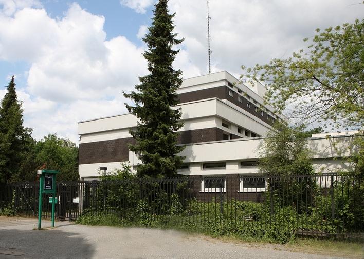 Direktion Zentrale Aufgaben der Polizei Berlin in der Königstraße in Berlin-Zehlendorf
