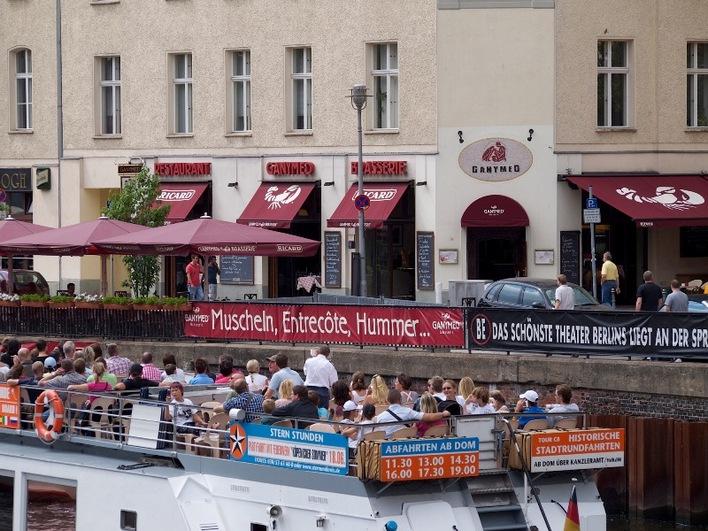 Das Restaurant Ganymed am Schiffbauerdamm