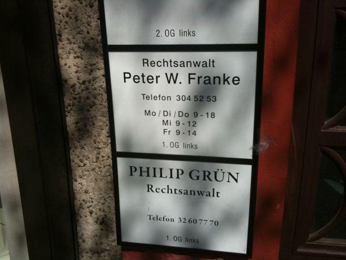 Rechtsanwalt Peter W. Franke