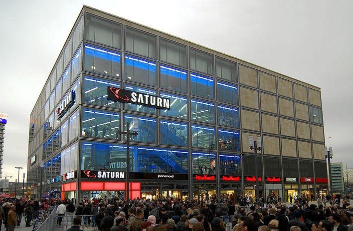 Das Handelshaus die mitte am Alexanderplatz eröffnet am 25. März 2009.
