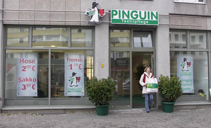 Pinguin-Textilpflege in der Brandenburgischen Straße