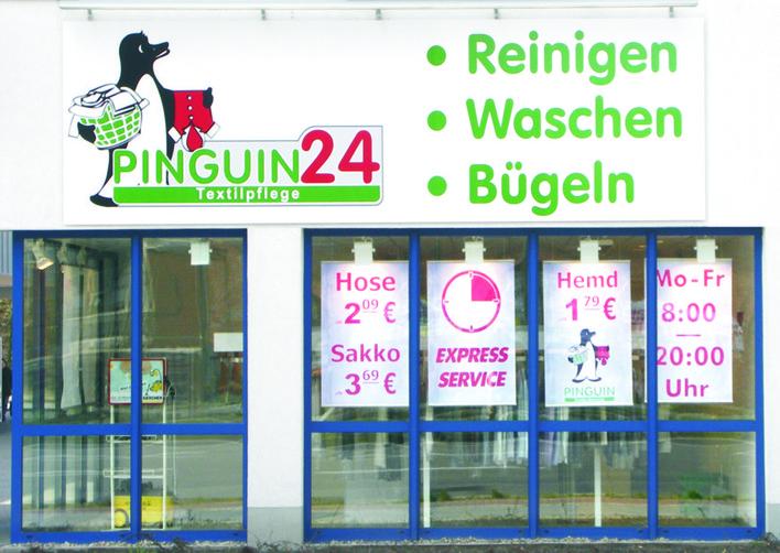Pinguin Textilpflege in der Schnellerstraße