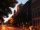 Oranienburger Straße an einem Sommerabend, Blick auf die Synagoge